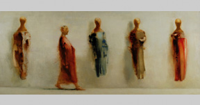 Person with Mannequins. 40 in x 96 in price